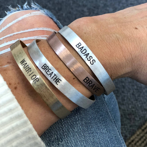 Choose Your Word Copper Cuff - Bronco Western Supply Co.