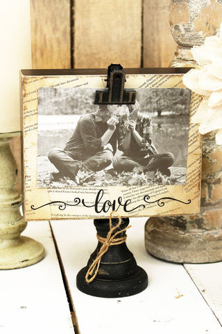 Wood Tabletop Photo Display - Bronco Western Supply Co.