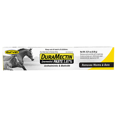 DuraMectin Paste Dewormer (1.87% Ivermectin) - Bronco Western Supply Co.
