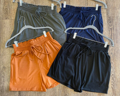 Flatter Me Stretchy Paperbag Shorts - Bronco Western Supply Co.