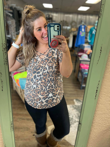 Born To Be Wild Leopard Top - Bronco Western Supply Co.