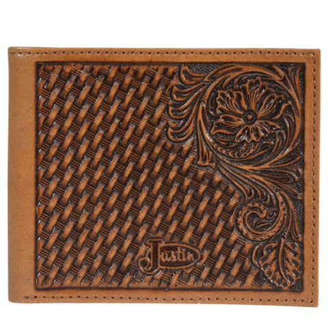 Justin Bi-Fold Tooled Wallet - Bronco Western Supply Co.