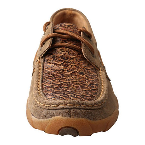 Twisted X Women's Brown Fish Scale Driving Mocs - Bronco Western Supply Co.
