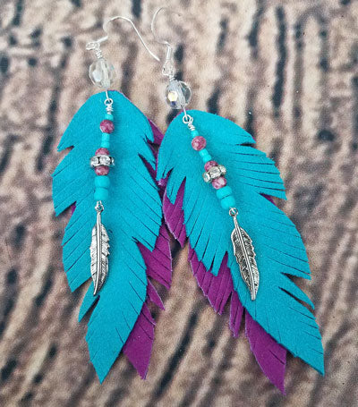 The Piper - Feather Earrings
