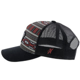 Rope Like A Girl Black/ Red Aztec with Black Diamond Patch Hat - Bronco Western Supply Co.