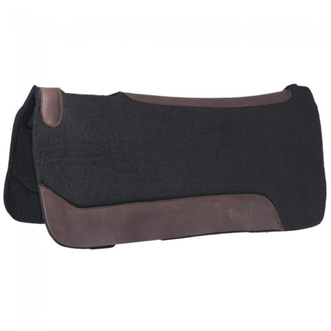 "Contour Felt Saddle Pad  32 x 32 Black 1"" - Bronco Western Supply Co."