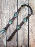 Turquoise and Concho Bling Brown Belt - Bronco Western Supply Co.