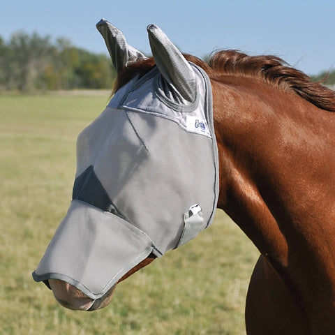 Crusader Pasture Long Nose Fly Mask with Ears - Bronco Western Supply Co.