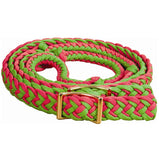 Nylon Braided Barrel Rein with Knots - Bronco Western Supply Co.