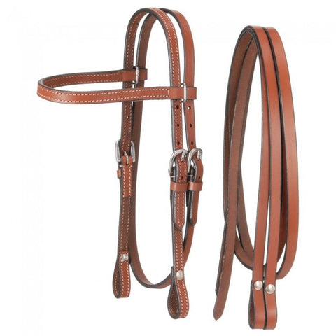 Miniature Browband Headstall - Light Chestnut - Bronco Western Supply Co.