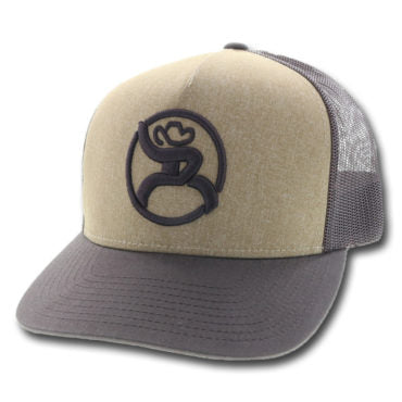Hooey hat, Brown Cap with tan face and brown roughy logo, front