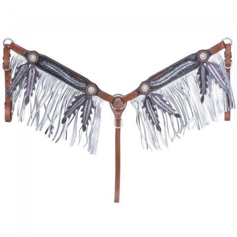 Zane Collection Breastcollar with Fringe - Bronco Western Supply Co.