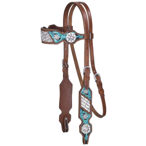 Ashton Collection Browband Headstall - Bronco Western Supply Co.