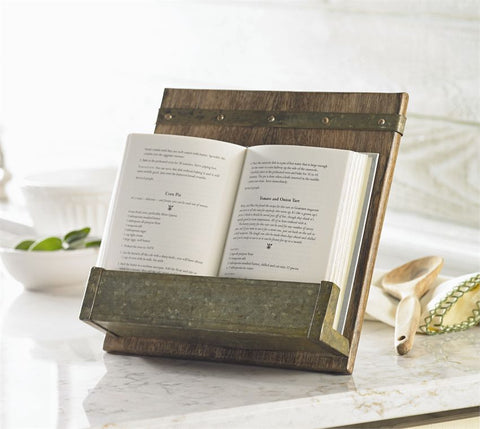 Rustic Cookbook Holder - Bronco Western Supply Co.