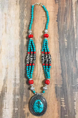Turquoise Big Egg Necklace - Bronco Western Supply Co.