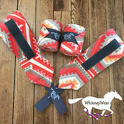 Polo Wraps - Coral Aztec - Bronco Western Supply Co.