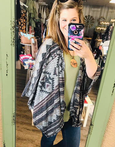 Seminole Winds Printed Drape Shawl