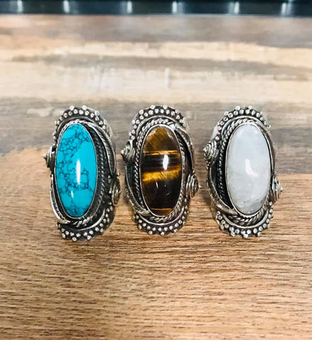 Big Stone Rings - Bronco Western Supply Co.