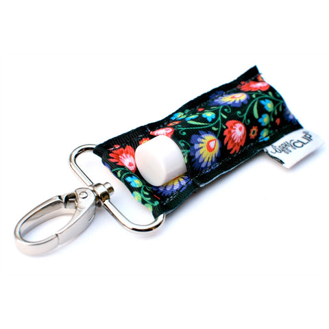 Wonderland Floral LippyClip Lip Balm Holder - Bronco Western Supply Co.