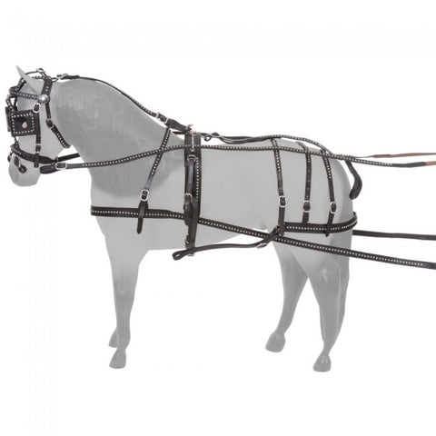 Miniature Horse Spotted Leather Driving Harness