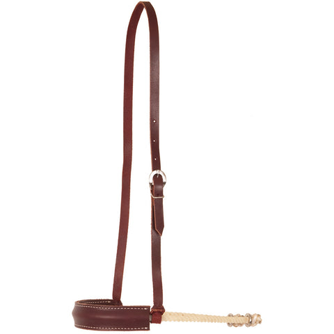 Single Rope Noseband with Flat Leather Nose - Bronco Western Supply Co.