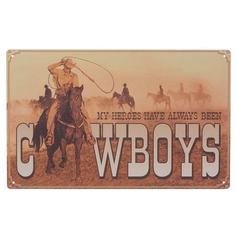 """My Heroes"" Sign - Bronco Western Supply Co."
