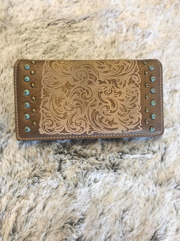 Montana West Embossed Collection Wallet - Bronco Western Supply Co.