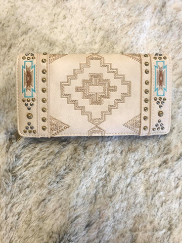 Montana West Aztec Collection Secretary Style Wallet - Bronco Western Supply Co.