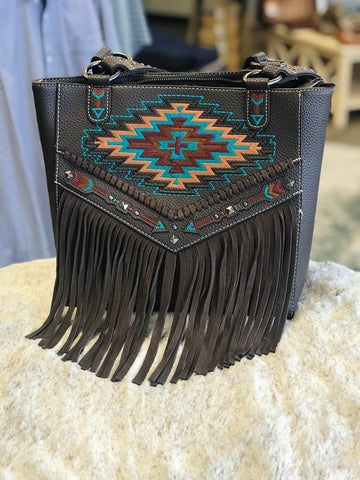 Montana West Embroidered Aztec Collection Concealed Carry Tote Purse - Bronco Western Supply Co.