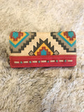 Montana West Aztec Collection Wallet Red - Bronco Western Supply Co.