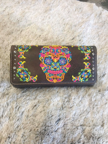 Montana West Sugar Skull Collection Wallet - Bronco Western Supply Co.