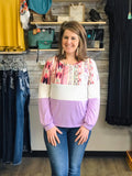 Spring Time Sweetheart Color Block Top - Bronco Western Supply Co.