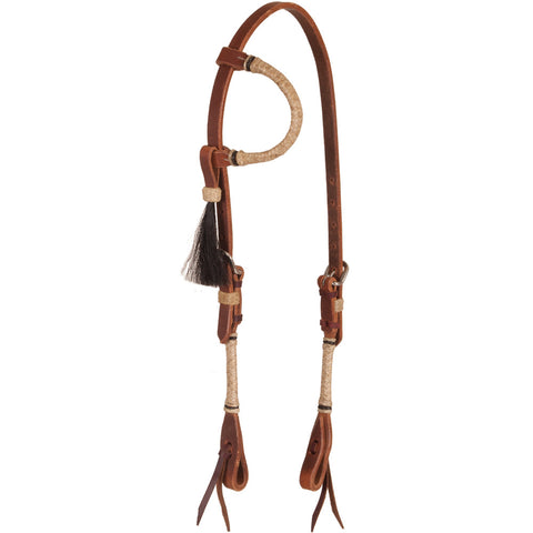 Rawhide Braided Harness Slip Ear Headstall - Bronco Western Supply Co.
