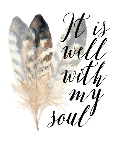 It Is Well With My Soul Digital Print - Bronco Western Supply Co.