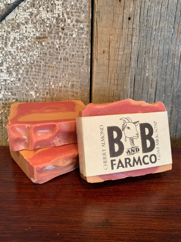 Cherry Almond Goat Milk Soap - Bronco Western Supply Co.