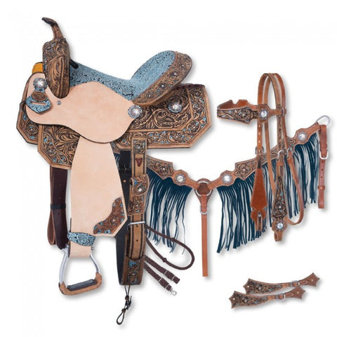 Skylar Collection 5 Piece Barrel Saddle Package - Bronco Western Supply Co.