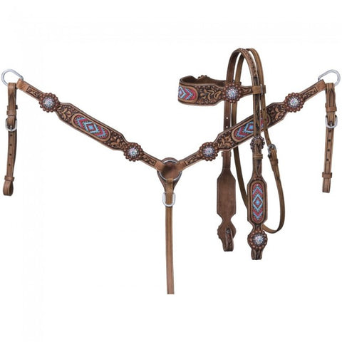 Abigail Brow Headstall & Breastcollar Set - Bronco Western Supply Co.