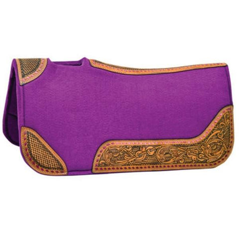 30 x 30 Buckstitch Barrel Saddle Pad - Purple - Bronco Western Supply Co.