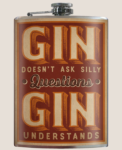 Gin Understands Flask - Bronco Western Supply Co.