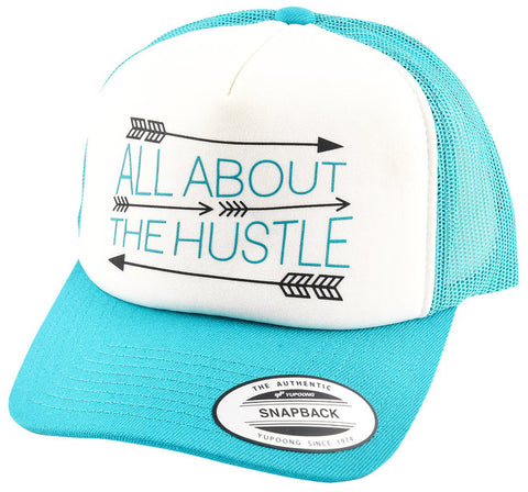 """Hustle"" Turquoise/White - Bronco Western Supply Co."