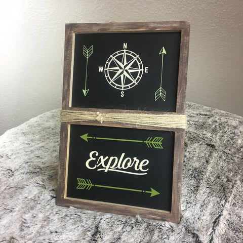 Double box Frame with Compass and Explore - Bronco Western Supply Co.
