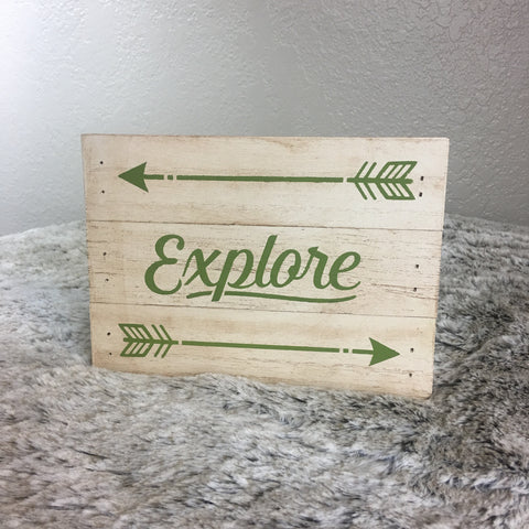 Explore with Arrows Pallet Sign - Bronco Western Supply Co.