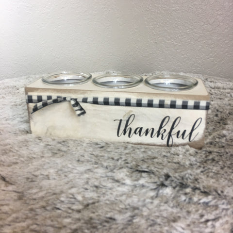 Thankful Candle Box with Ribbon - Bronco Western Supply Co.