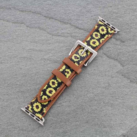 Sunflower Pattern Apple Watch Bands - Bronco Western Supply Co.