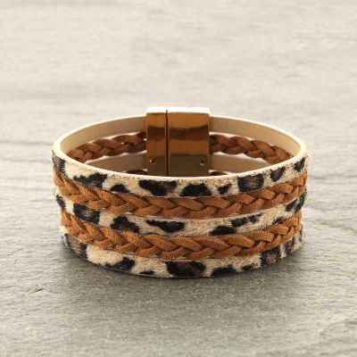 Leopard Magnetic Bracelet - Bronco Western Supply Co.