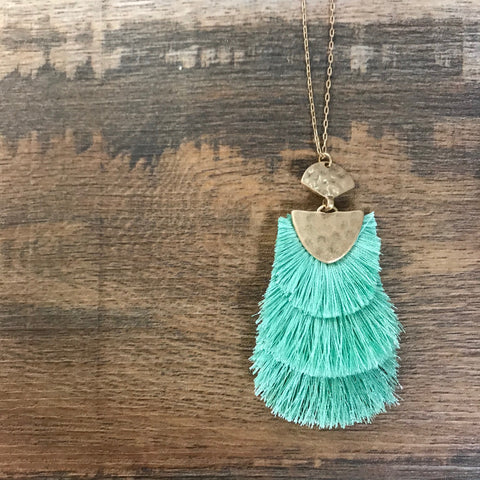 Amazing Mayzie Layered Tassel Necklace - Bronco Western Supply Co.