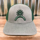Spur Up Hat - Gray/Forest Green - Bronco Western Supply Co.