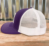 Spur Up Hat - Purple/White - Bronco Western Supply Co.