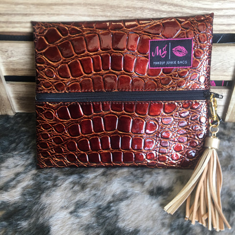 Makeup Junkie Bag - Bourbon - Bronco Western Supply Co.