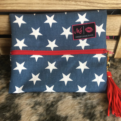 Makeup Junkie Bag - Red, White, and Beautiful - Bronco Western Supply Co.